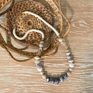 Stella & Dot | Abriana Blue Stone Rope Necklace
